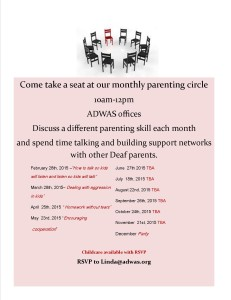flyer for parenting circle 2015