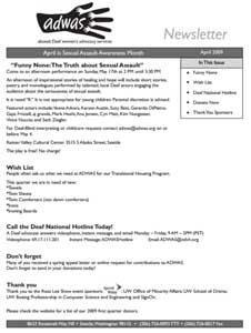 April 2009 Newsletter