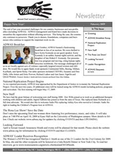 Winter 2009 Newsletter