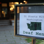 A sign from the first Engaging Deaf Men Project retreat