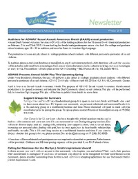 Winter 2015 Newsletter