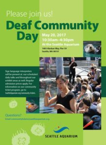Deaf Community Day at the Aquarium! @ Seattle Aquarium