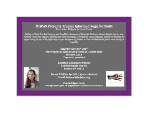 Trauma-Informed Yoga for Sexual Assault Awareness Month @ Community Fitness | Seattle | Washington | United States
